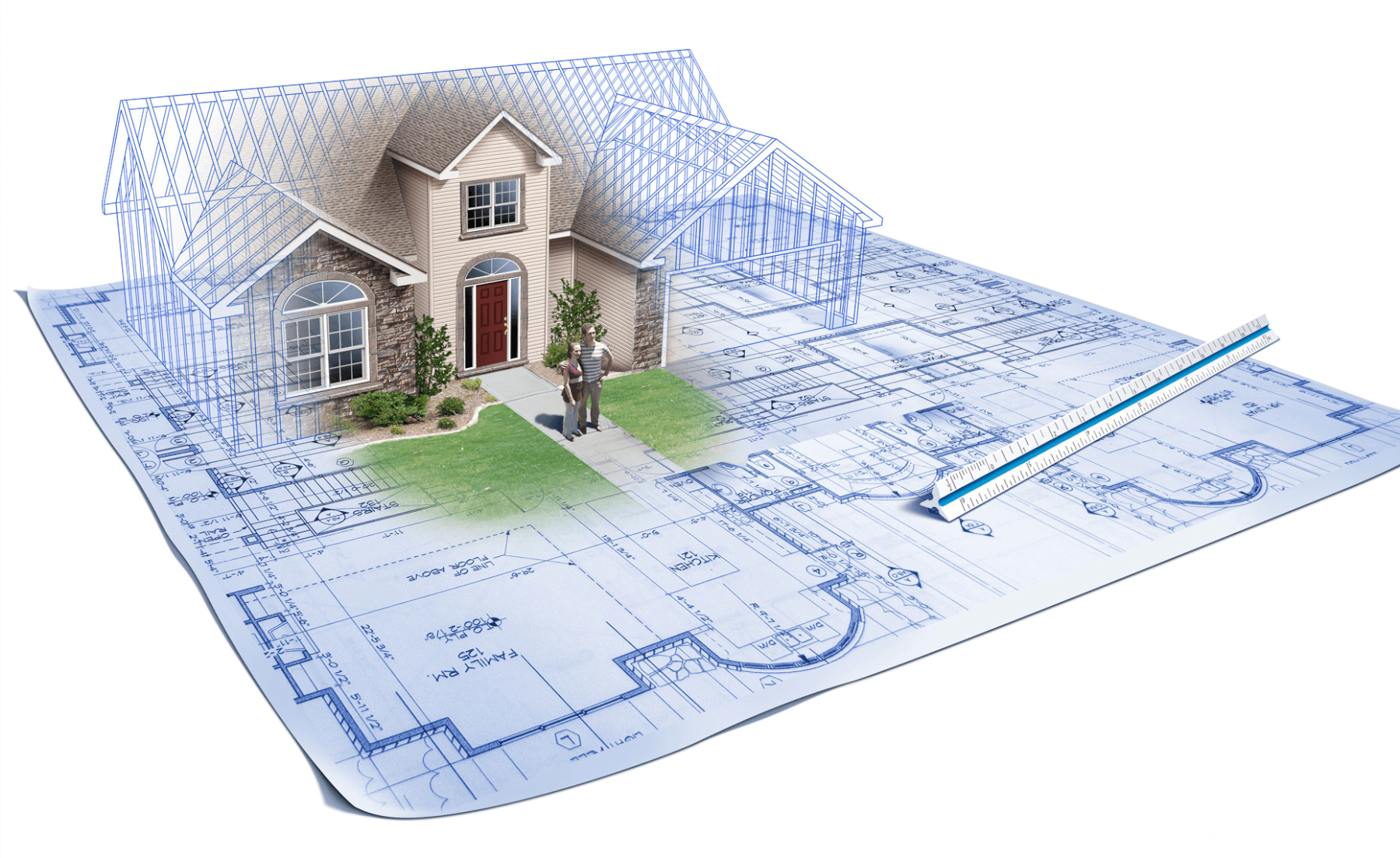 Solar for new construction for House building blueprints