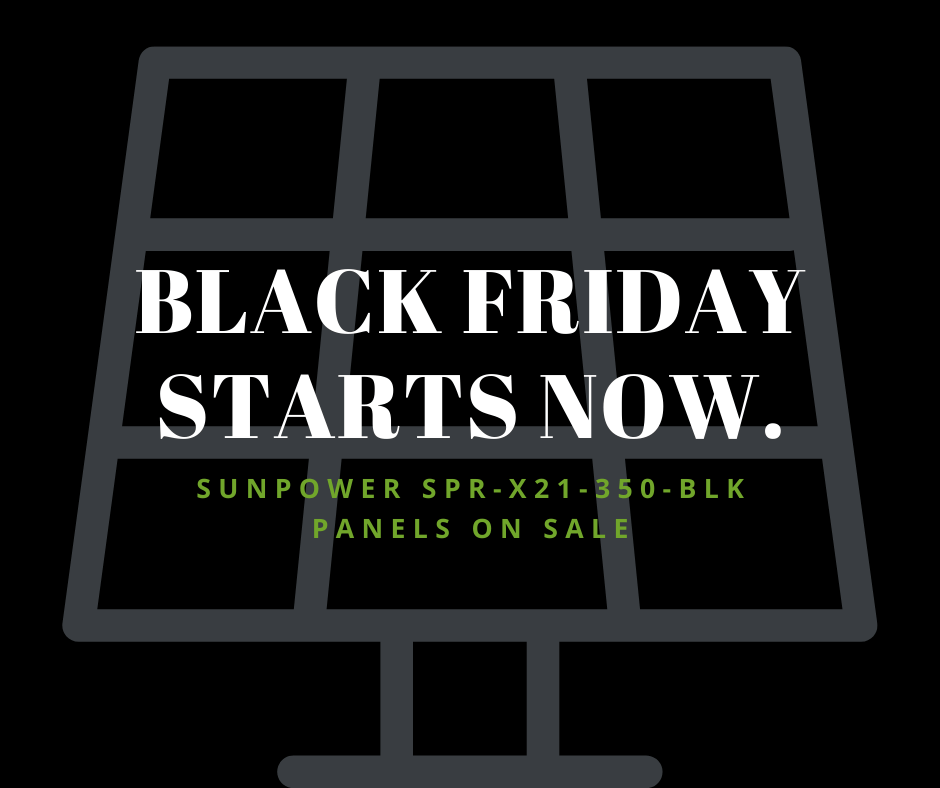 All Black Sunpower Panel Discount | Cape Fear Solar Systems