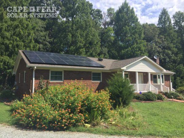 SunPower Solar Panel Installation with Solar Attic Fan | Cape Fear Solar Systems Wilmington, NC