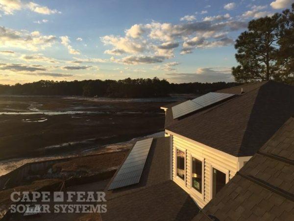 New Construction SunPower Solar Install Cape Fear Solar Systems