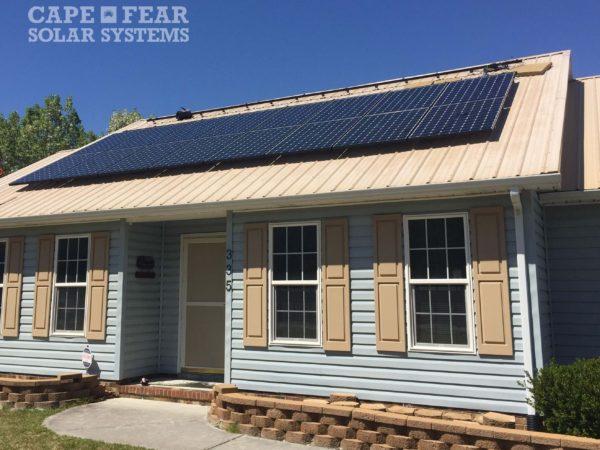Photovoltaic System SunPower Panel - Hubert, NC Cape Fear Solar Systems