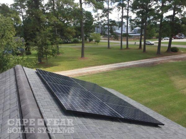 SunPower Panel Install BUrgaw, NC Cape Fear Solar Systems