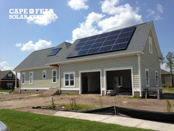 New Construction Home With Solar
