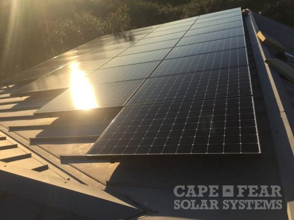 Cape Fear Solar Install SunPower Panel