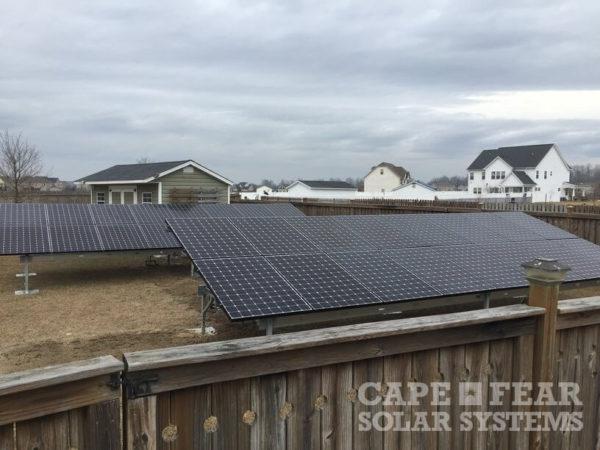 SunPower Panel Ground Mount Installation Cape Fear Solar Systems