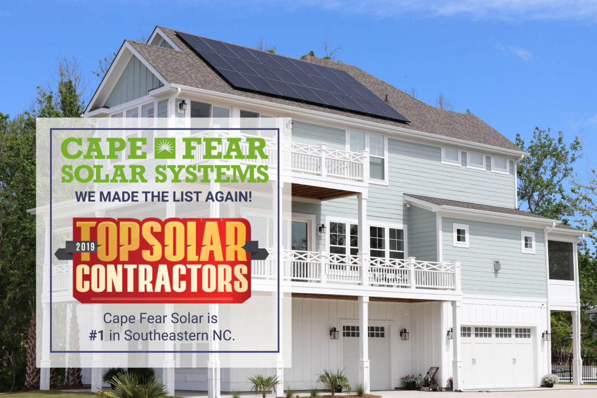 Top Solar Contractor Southeastern NC