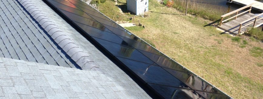 Sleek all black solar panels