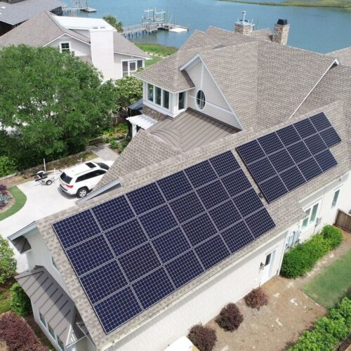 Waterfront Solar home