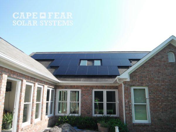 Wilmington, NC SunPower Panel Install Cape Fear Solar Systems