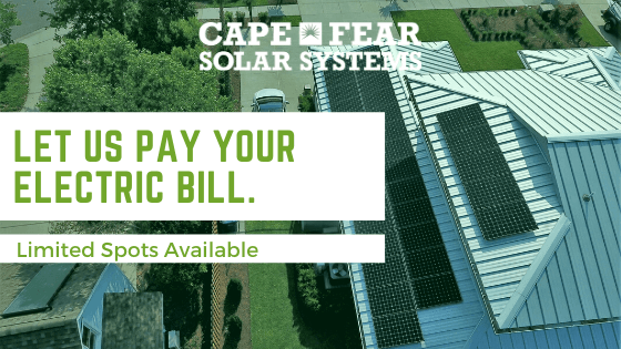 Let Us Pay Your Electric Bill - Cape Fear Solar Systems