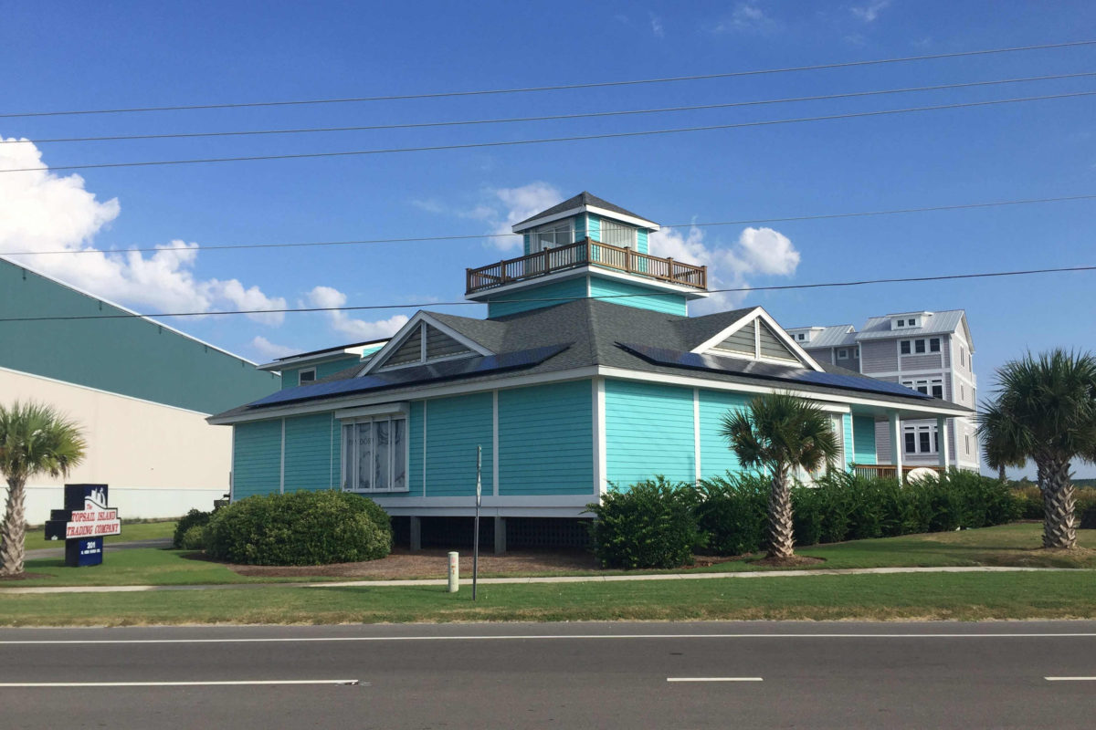 Solar on the Topsail Island Trading Co Surf City