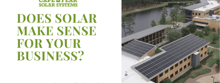 Commercial Solar Webinar | Cape Fear Solar Systems